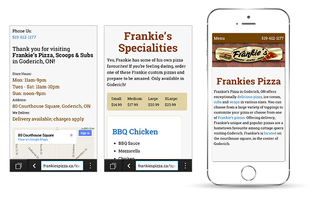 frankies-pizza-mobile-website