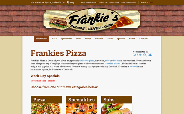 frankies-pizza-website